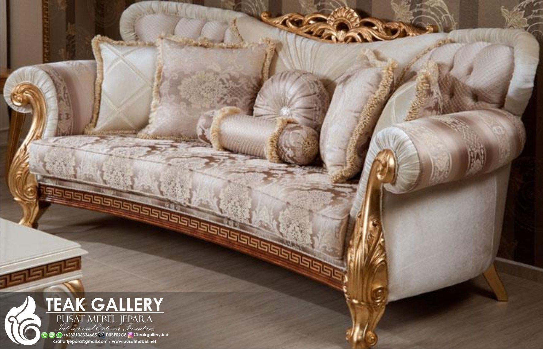 Modern Furniture Jepara sofa tamu royal koltuk mewah modern, 1 set sofa tamu, furniture