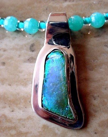 Aqua Blue Adventure Necklace c/w Aqua Geen Ancient by camexinc