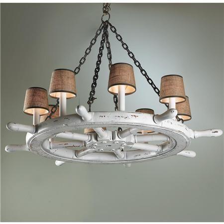 Ships wheel chandelier 895 interiors i love pinterest wheel ships wheel chandelier 895 mozeypictures Images