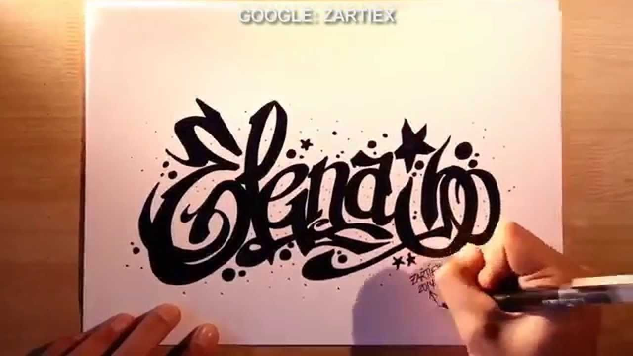 Como dibujar graffitis y letras 3D - Como hacer letras para tatuajes ...