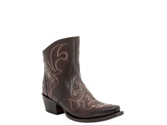 Shop New Lucchese M4903 Harper Womens Calf Leather Western Cowgirl Ankle  Boots in Espresso. Free