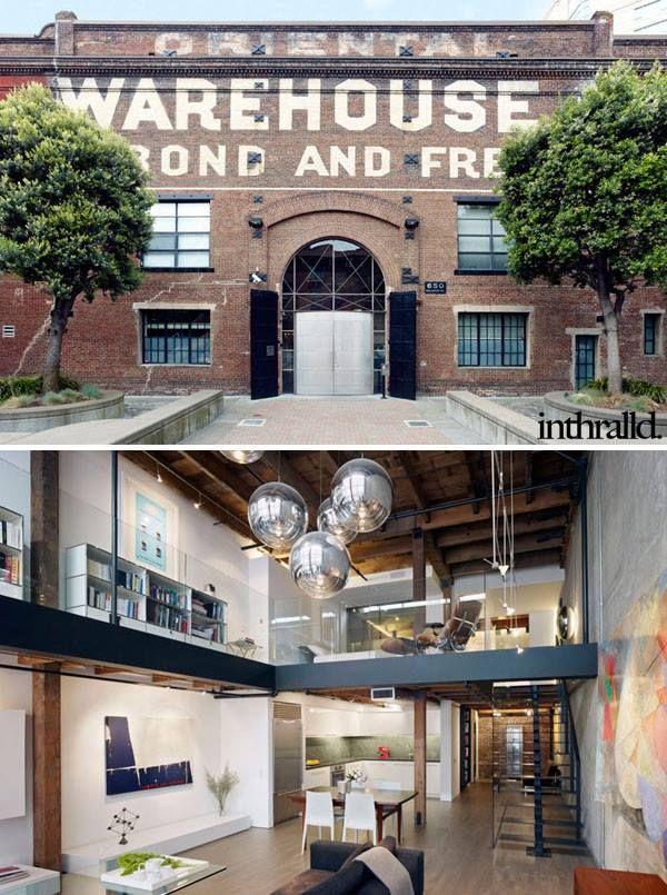 Warehouse Apartment Loft Conversion In San Francisco