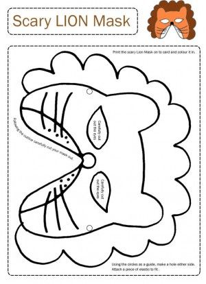 Printable animal masks Activity Days Pinterest Animal mask