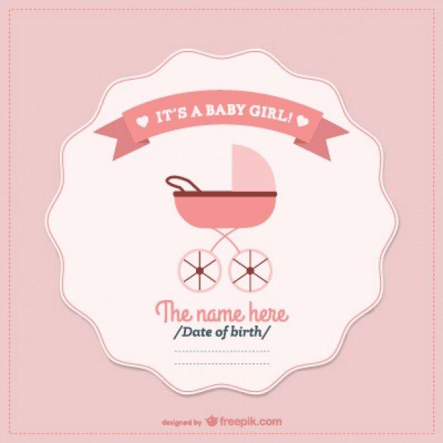 Baby shower invitation card - vector eps Description from pinterest - fresh invitation banner vector