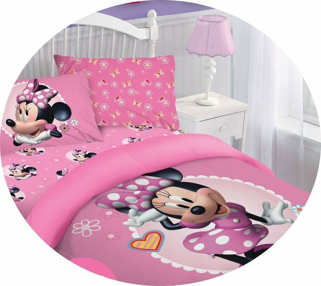 minnie mouse bedroom set luxury disney cartoons bedding