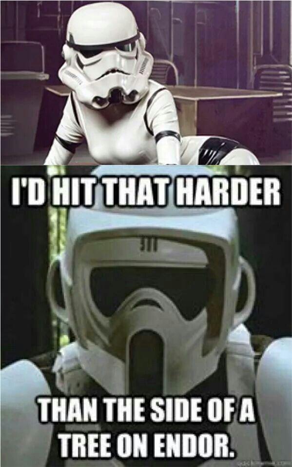 Hahahahaha Star Wars Memes Star Wars Jokes Female Stormtrooper