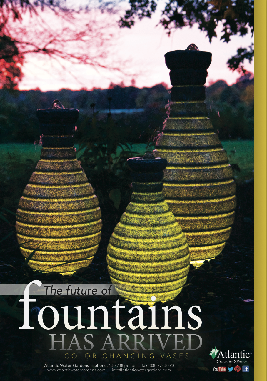 The Future Of Fountains Is Here   Color Changing Vase Fountains From Atlantic  Water Gardens