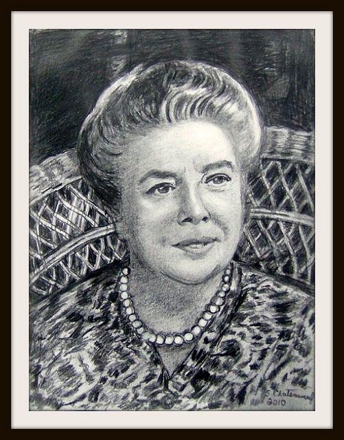 Frances bavier aunt bee taylor pencil drawing by snc145 photo frances bavier altavistaventures Image collections