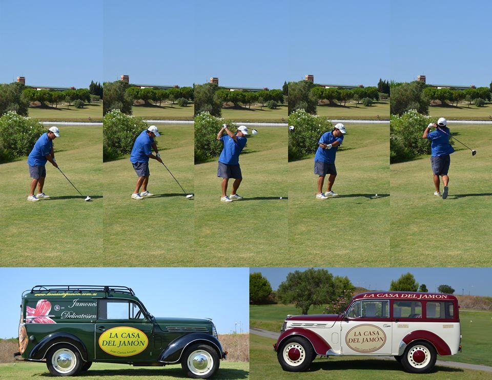 Montaje fotográfico realizado sobre la marcha en el mismo campo de golf.