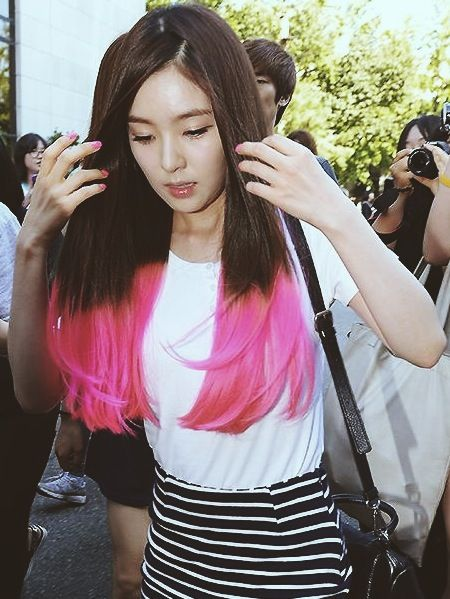 Grow Out My Hair This Long And Ombre It Temporarily With Manic Panic  Irene