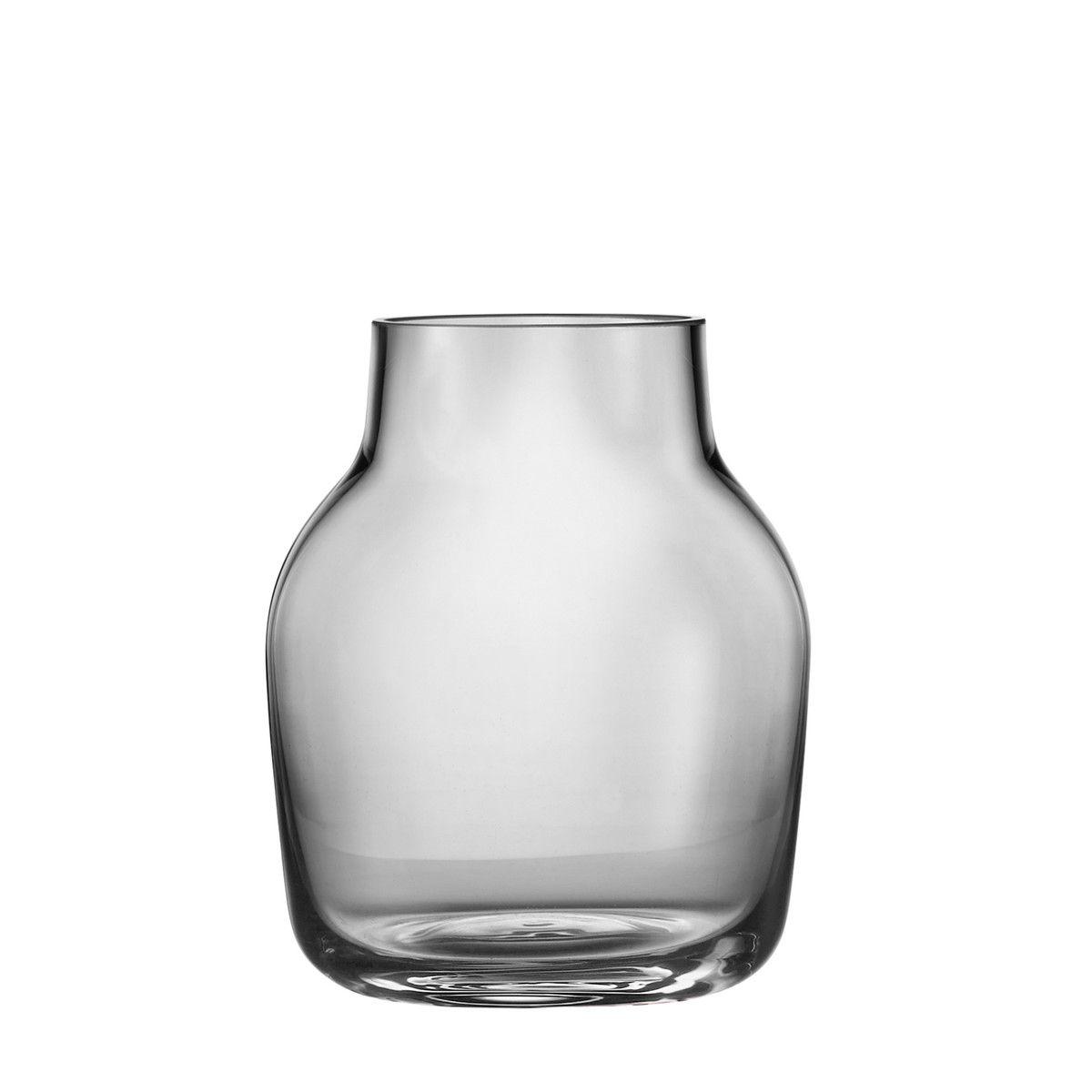 Brilliant Vase Grau Sammlung Von Muuto - Silent Vase, Small, Jetzt Bestellen