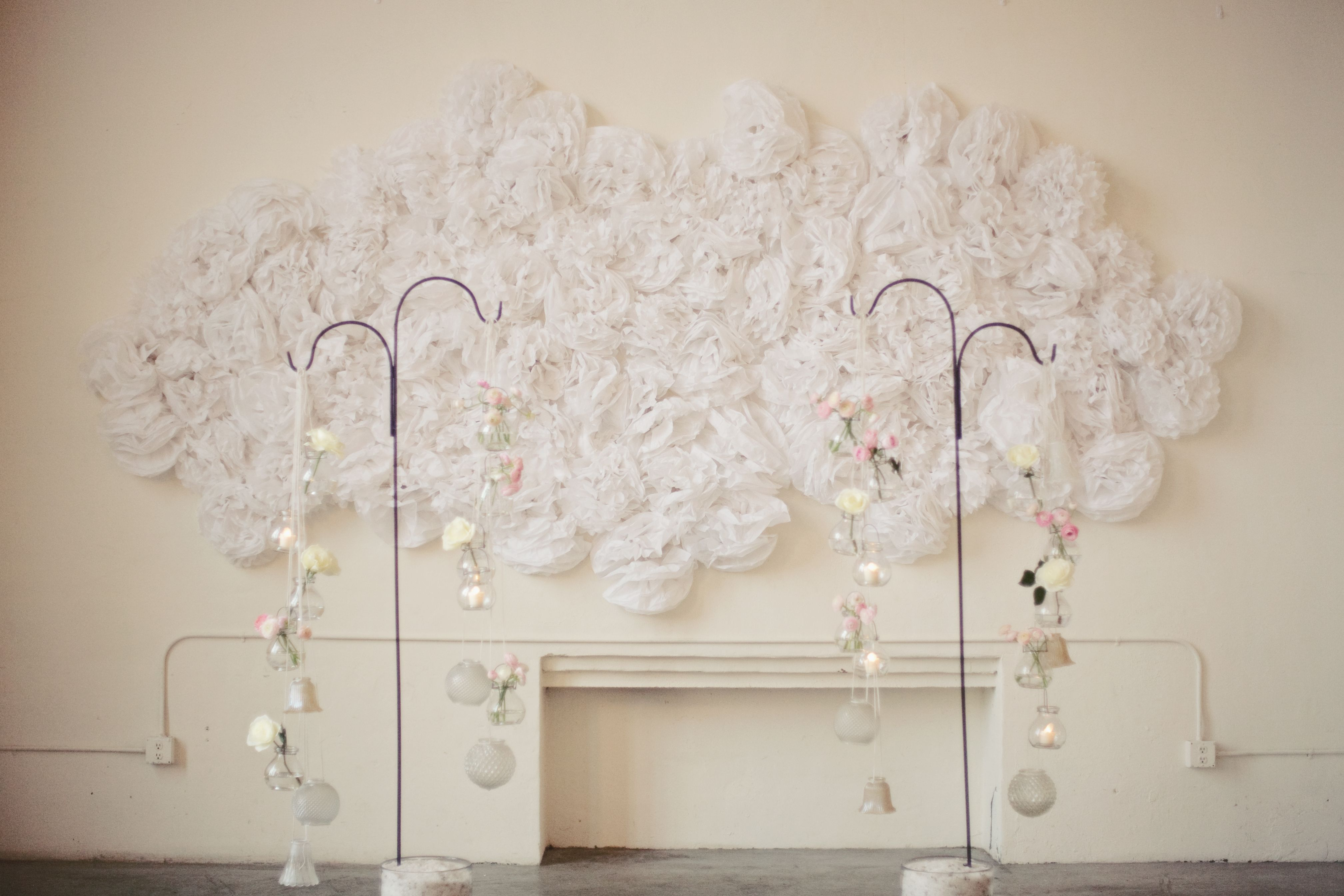 Wall Decoration For Engagement : We especially love the wedding ceremony wall decor made of