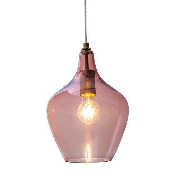Olgrah 1 Light Pendant Lamp in 2020 Pendant lamp, Glass