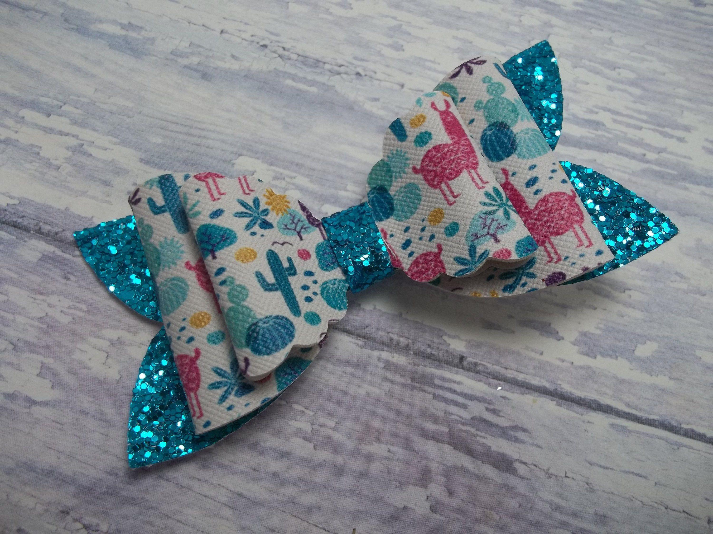 Handmade Bow Baby Toddler Hair Bow Glitter Bow For Girls