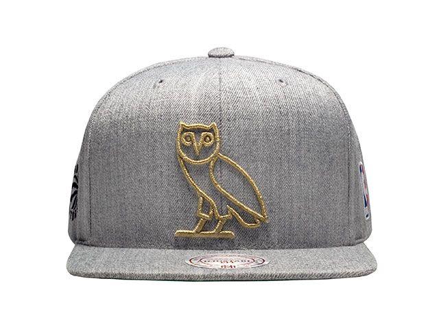0761ad2f846 Real Sports Apparel - Raptors OVO Mitchell   Ness Men s Owl Alternate  Primary Logo Snapback