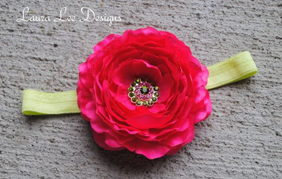 Hot Pink Peony Flower Shabby Chic Flowers by LauraLeeDesigns108, $11.99