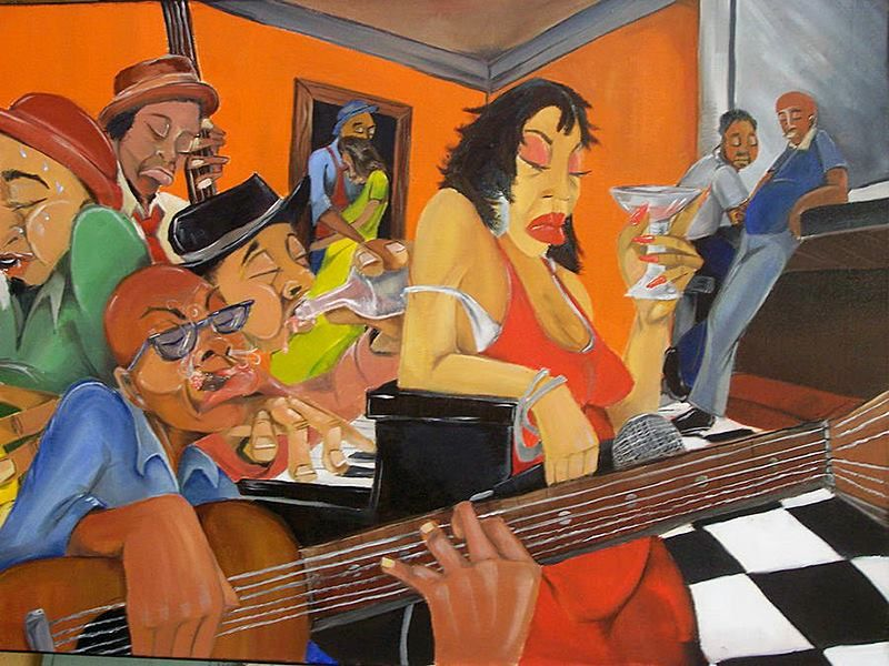 Juke Joint Painting By Byron Rogers 14 8 Blues Art In