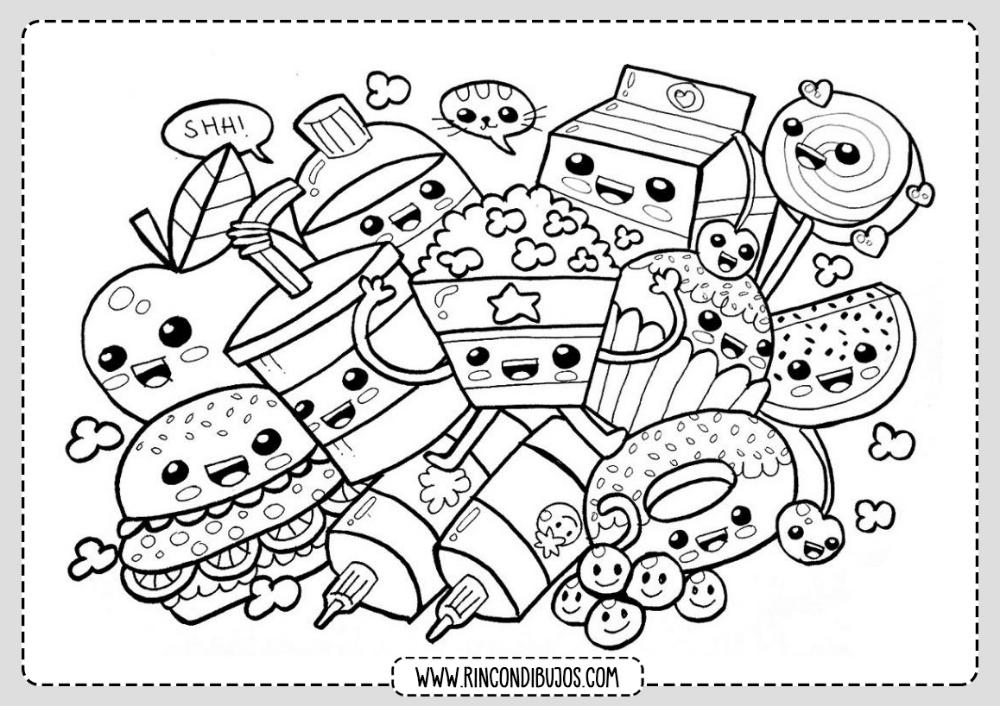 Dibujos Colorear Kawaii Rincon Dibujos Dibujos Kawaii Dibujos Kawaii Para Imprimir Dibujos Kawaii Faciles