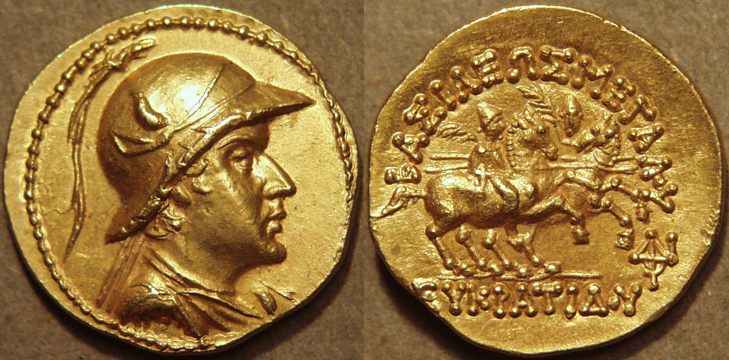 Gold Stater Of Eucratides I 171 145 Bce One Of The Most