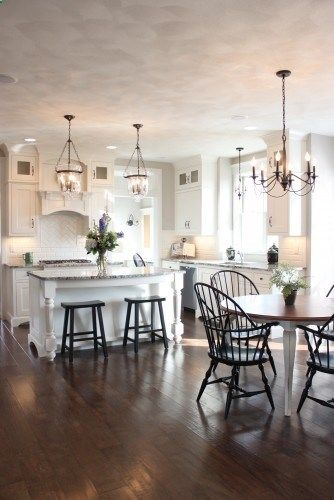 pottery barn hundi lanterns above island more - Pottery Barn Kitchen