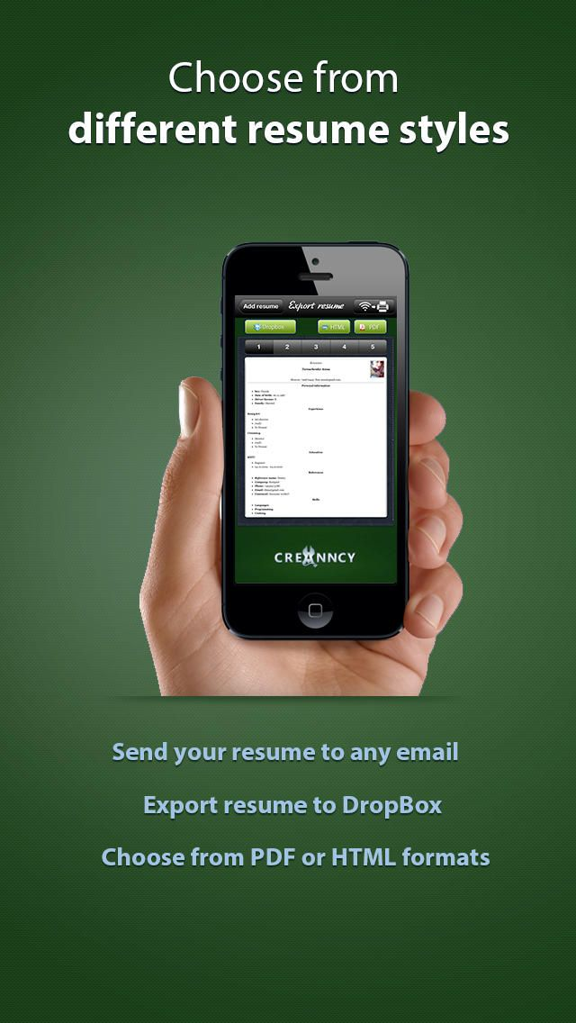 Pocket Mobile Resume For Iphone App With Images Resume App