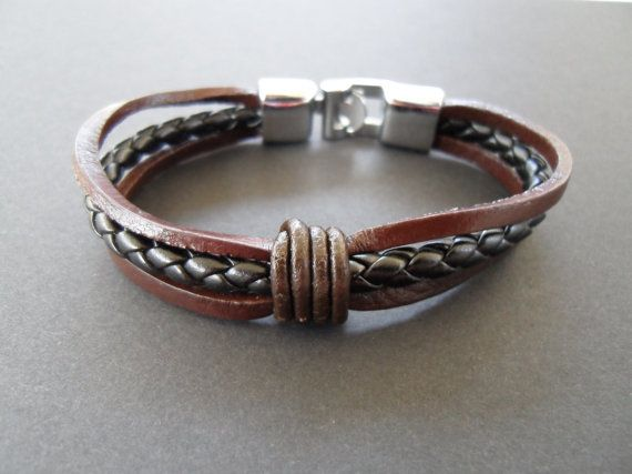 FREE SHIPPING Brown Leather bracelet  by AnastazioModigliani