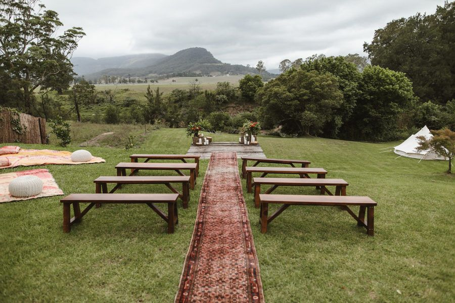 Alex & Sammi's Kangaroo Valley Wedding Aisle runner