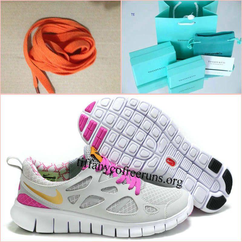 b56d09ec57d5 Womens Nike Free Run 2 White Grey Pink Gold Shoes   49.99