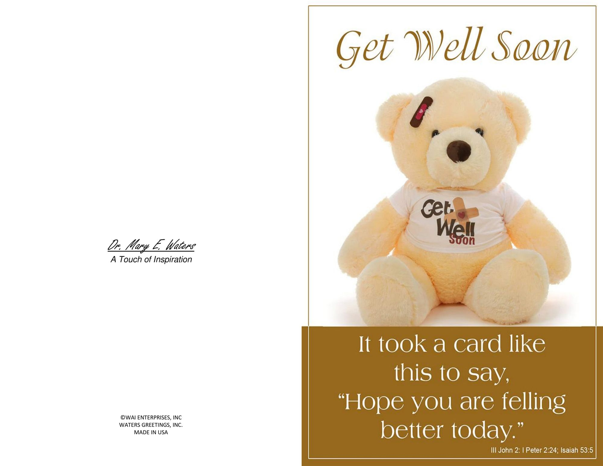 Three Printable Get Well Cards Blank Inside 5 5 X 8 5 And Inside Get Well Soon Card Template Professi Get Well Cards Gift Card Template Note Card Template