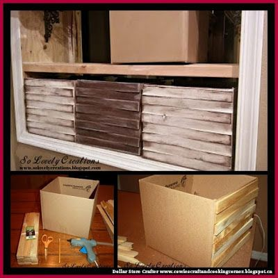Cardboard Storage Box Decorative Dollar Store Crafter Turn Cardboard Boxes And Cedar Shims Into