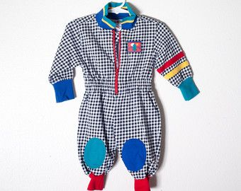 bb709002f99a0 Vintage 80s Baby Romper