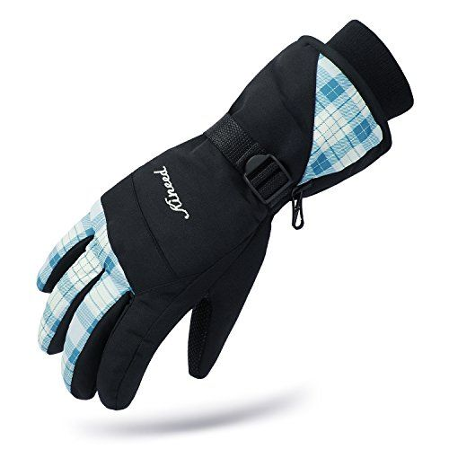 Kineed Waterproof Women Winter Ski Skiing Snow Warm Glove Women Size Total Length 29 5cm 11 6 Palm Best Winter Gloves Gloves Winter Warmest Winter Gloves