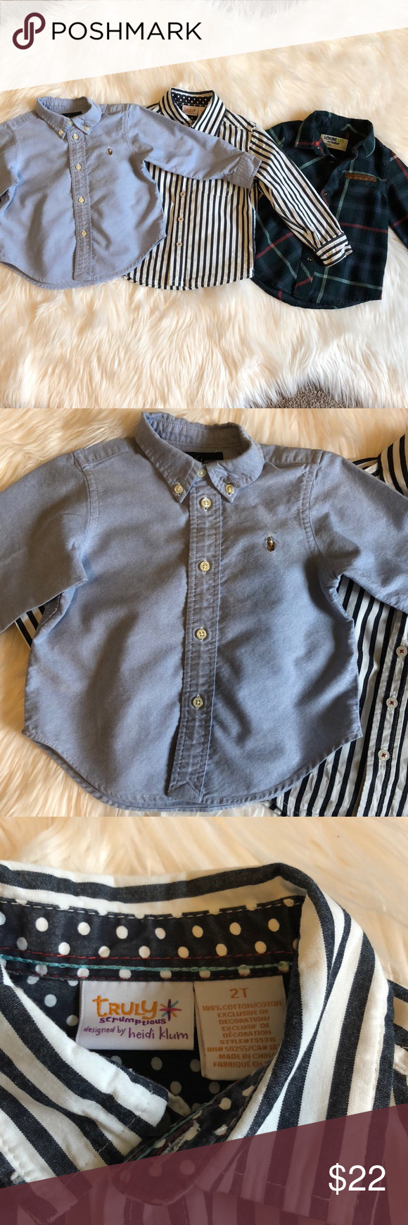 01ffba49e Toddler boy button down dress shirt bundle Your little man is sure to look  dapper in each of these. All in excellent used condition.