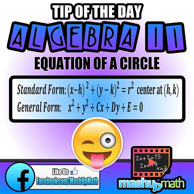 Notebookdo You Know Standard And General Form Equations For Circ