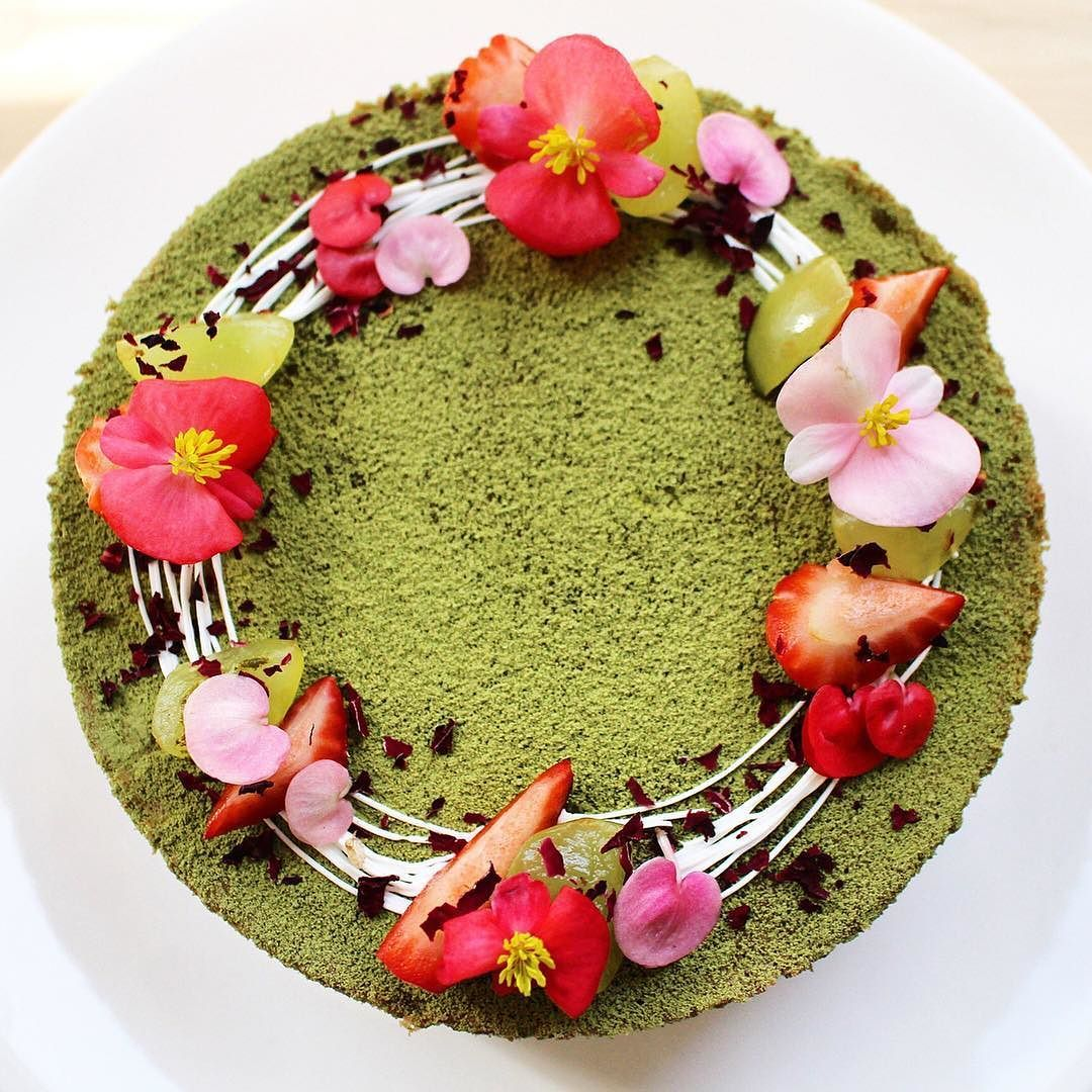 Heres an amazing matcha cake by the wonderfully talented