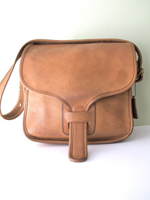 ccc0b07100 COACH Saddle Bag RARE // 70s Bonnie Cashin Courier Messenger Bag ...