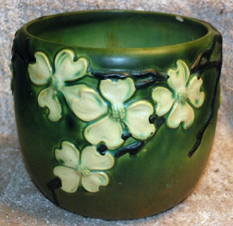 Vintage Roseville Pottery Jardiniere Dogwood I 1920s For The Home