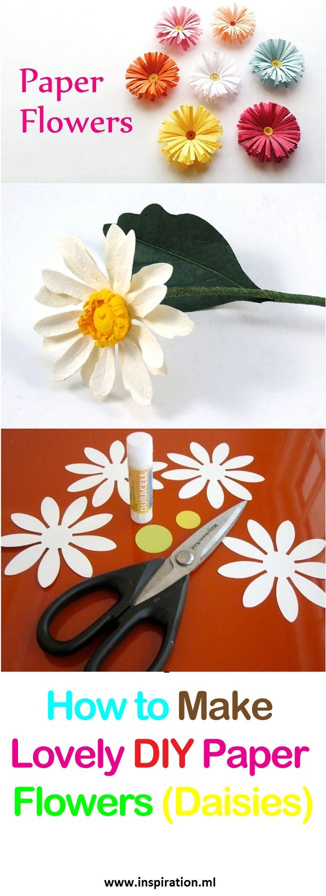 How To Make Lovely Paper Flowers Daisies Manualidades