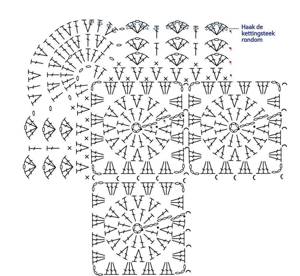 Crochet Earring Diagram