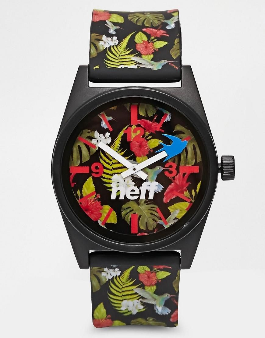 Neff | Neff Daily Wild Floral Watch at ASOS