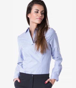 Camasa dama office fara nasturi bleu