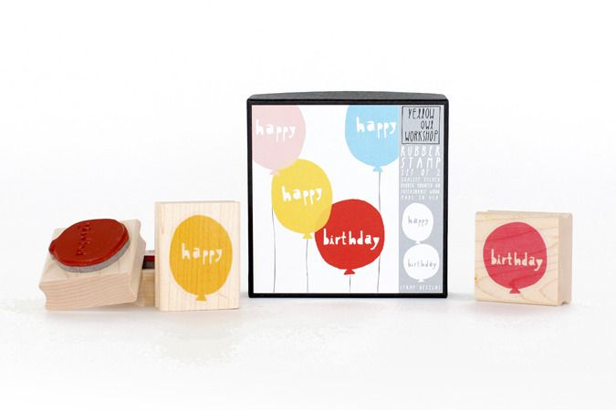 Happy Birthday Balloons Stamp Set / Paper Pastries: Confections for your Correspondence