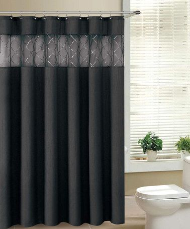 Take A Look At This Black Fame Shower Curtain By Victoria Classics