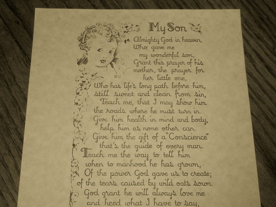 mothers love for her son poem