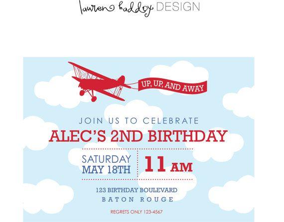 Airplane Birthday Invitation Airplane Birthday Airplane Printables