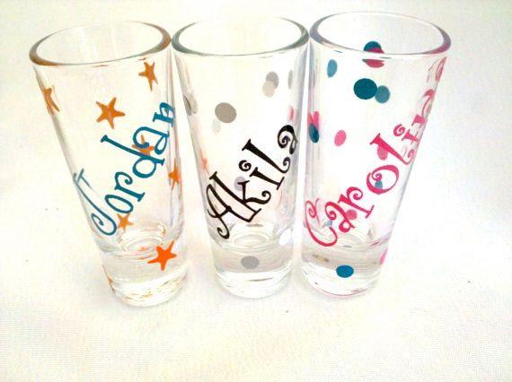 Diy Personalized Shot Glass Custom Bachelorette Party