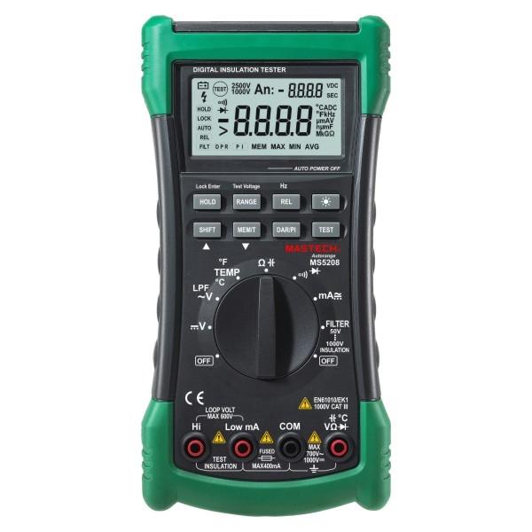 124.07$  Buy now - http://ali4f1.worldwells.pw/go.php?t=32673613990 - MasTech MS5208 Digital Insulation Multimeter multi-function Digital multimeter   insulation resistance meter Ammeter Multitester