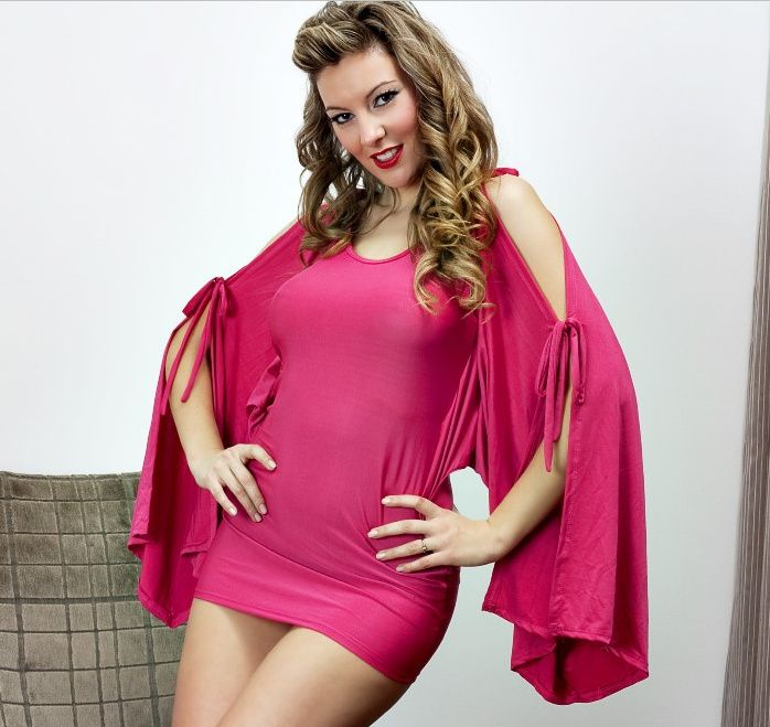 Sexy Pink Red Slinky Dress