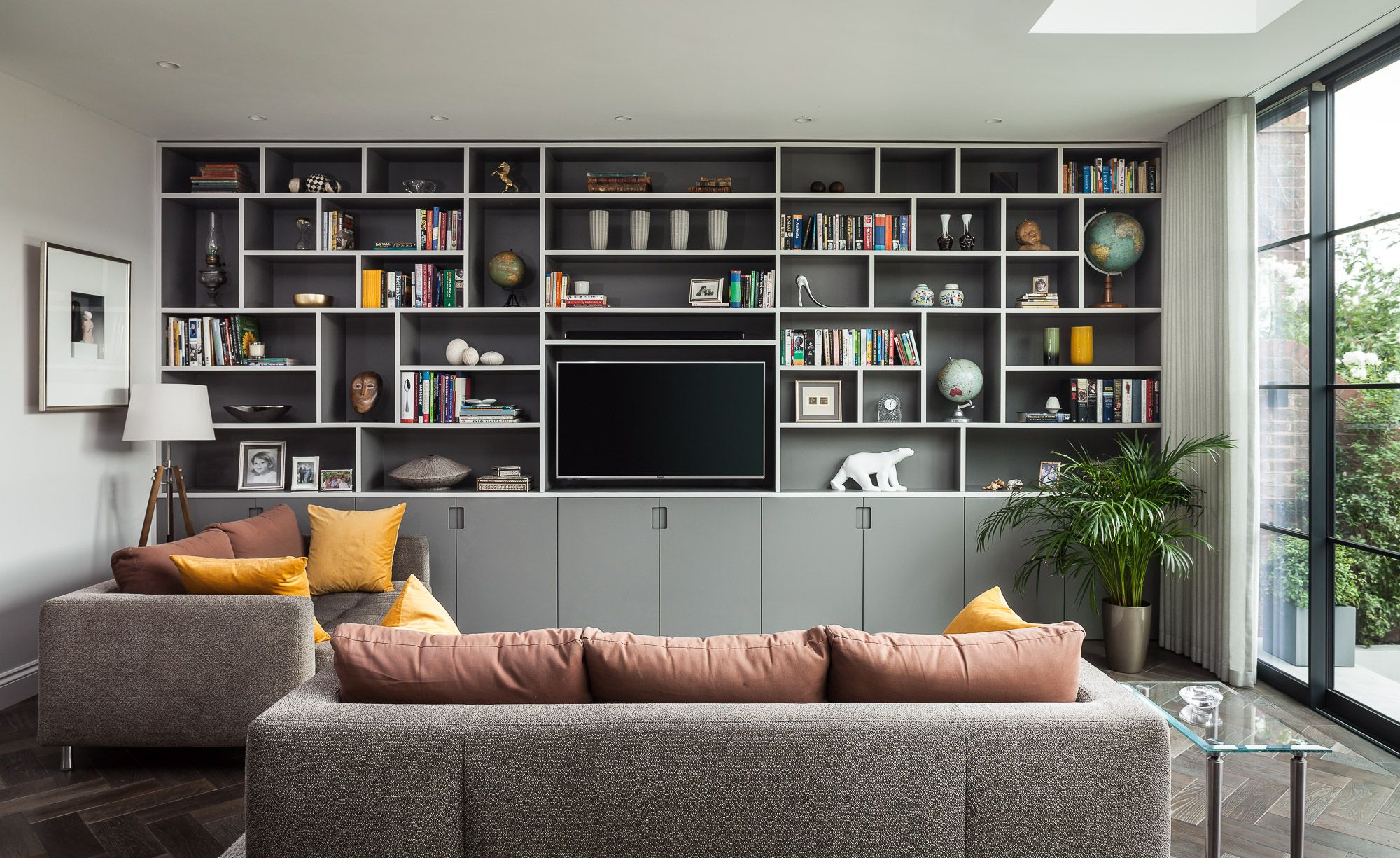 Bespoke Living Room TV Bookcase/Storage Joinery by EMR Home Design ...