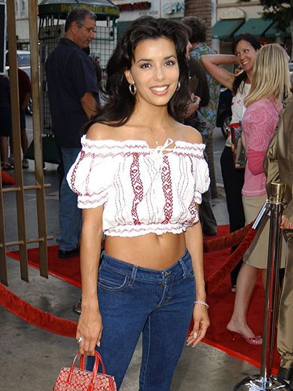 c4b039e3b 13 Fashion Trends From the Early 2000s That You Totally Wore: Peasant tops  (pictured on Eva Longoria) | allure.com